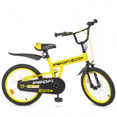 Велосипед дитячий PROF1 20д. L 20111 (1 шт/ящ) Driver, жовтий, підніжка