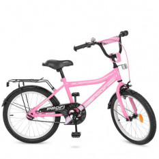 Велосипед дитячий PROF1 20д. Y 20106 (1 шт/ящ) Top Grade, рожевий, дзвінок, підніжка