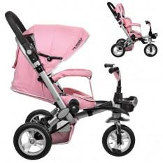 Велосипед M AL 3645 A-10 (1 шт / ящ) три колеса, гума (12/10), колясочний, алюмінієвий, поворот, знімні колеса, 360, ніжно-рожев