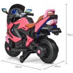 Мотоцикл M 3681 ALS-8 (1 шт/ящ) BAMBI, рожевий