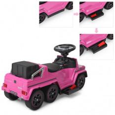 Машина M 3853 EL-8 (1 шт / ящ) 2 в 1 (каталка-толокар), рожева