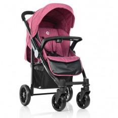 Коляска дитяча ME 1027L TEMPO Sangria (1 шт/ящ) EL CAMINO, прогулянкова, рожева