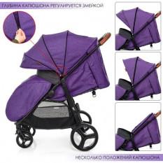 Коляска дитяча ME 1024 L X4 Violet (1 шт/ящ) EL CAMINO, фіолетова