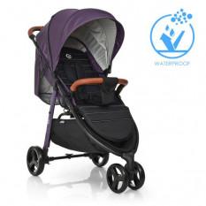 Коляска дитяча ME 1025 X3 Plum (1 шт/ящ) EL CAMINO, прогулянкова, фіолетова