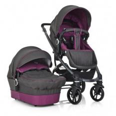 Коляска дитяча ME 1021-9 B-move (1 шт/ящ) універсал 2 в 1, сіро-фіолетовий