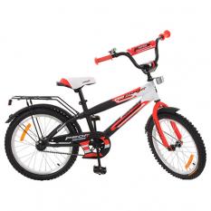 Велосипед дитячий PROF1 20д. G2055 (1шт/ящ) Inspirer, чорно-білий-червоний (матовий)