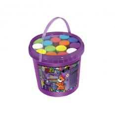 """Крейда для малювання на асфальті MEL-03-01U """"Danko-toys"""", банка, 16 шт, укр"""