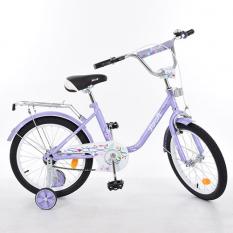 Велосипед дитячий PROF1 18д. L1883 (1шт/ящ) Flower, фіолетовий, дзеркало, дзвінок, доп.колеса¶