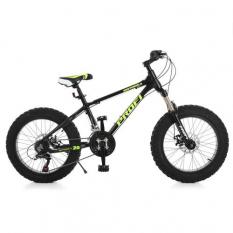 Велосипед 20 д EB20HIGHPOWER 2.0 A20.2 (1шт / ящ) PROFI, Черний, в коробці