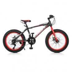 Велосипед 20 Д. EB 20 POWER 1.0 S 20.1 (1шт / ящ) PROFI, Чорно-червоний