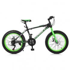 Велосипед 20 Д. EB 20 POWER 1.0 S 20.2 (1шт / ящ) PROFI, Чорно-зелений