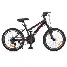 Велосипед 20 д. G20VEGA A20.2 (1шт/ящ) PROF1, Чорно-рожевий