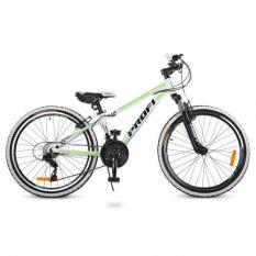 Велосипед 24 д. G24A315-L-3W (1шт/ящ) Біло-салатовий