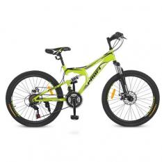 Велосипед 24 д. G24DAMPER S24.4 (1шт/ящ) PROFI, Салатовий