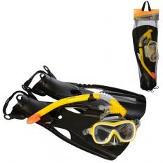 Набір для плавання 55658sh (6 шт) INTEX, ласти-розмір M (24-26 см), трубка, маска, від 8 років