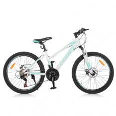 Велосипед 24 д. G24ELEGANCE A24.3 (1шт/ящ) Біло-блакитний