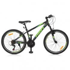 """Велосипед 24 д. G24PLAIN A24.3 (1шт/ящ) PROFI, алюмінієва рама 13,5 """", SHIMANO 21SP, алюм.VB, чорно-синій"""