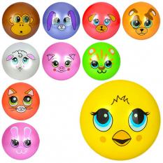 М'яч дитячий MS 0249-1 мордочки тварин