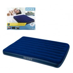 Велюр матрац 64758sh (3шт/ящ) INTEX, 137-191-25 см, синій, в коробці