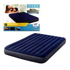 Велюр матрац 64759 (3шт/ящ) INTEX, 152-203-25 см, синій, в коробці