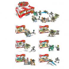 Конструктор 2102 JW, динозавр, фігурка, в коробці