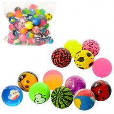 Стрибуни MS 1337 (700 шт) 3,2 см, каучук, мікс видів, упаковка 100 шт, в кульку