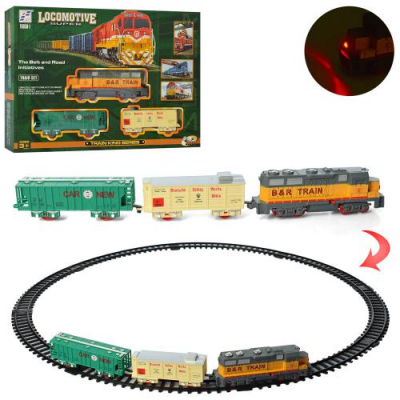 Залізна дорога 19059-1 локомотив, на батарейках, в коробці