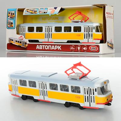 Трамвай 9708-B PLAY SMART, на батарейках, в коробці