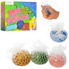 Іграшка MS 1732-1 (288шт) антистрес, виноград, 6 см, блиск, 12 шт (4 кольори) в дисплеї, 25-19-5,5 см
