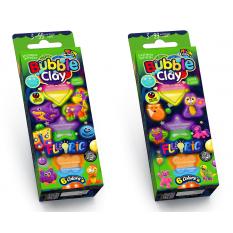 """Пластилін кульковий BBC-FL-6-01, -02 """"Bubble Clay"""", """"FLUORIC"""""""