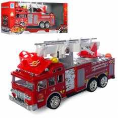 Пожежна машина 6789-4 на батарейках, в коробці