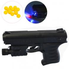 Пістолет 0621 B на кульках, лазер, на батарейках, в кульку