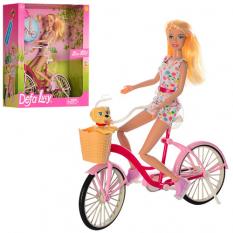 Лялька DEFA 8276 (12шт) 30см, велосипед 26см, собачка, 2 види, в коробці