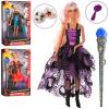 Лялька DEFA 8395 - BF (24 шт) 30 см, шарнірна, чарівна паличка світло, маски, гребінець, 3 види, батарейки ( таблиця ), коробці,