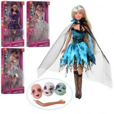 Лялька DEFA 8396 - BF (24 шт) 30 см, маска 3 шт, 4 види, в коробці, 16-32,5-5,5 см
