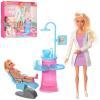 Лялька DEFA 8408 - BF (24 шт) лікар - стоматолог, 29 см, шарнірна, дочка, меблі, 2 види, в коробці, 34-31-6 см