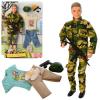Лялька з нарядом DEFA 8412 (24 шт) Кен, 30 см, шарнірний, зброя, 2 види, на картоні в слюді, 25-32,5-5 см