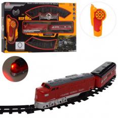 Залізниця PYM 33-34 (8шт) р / у, діаметр 86 см, локомотив 18 см, вагон 2 види (1 вид стройтехнііка), звук, світло, їде, на батар