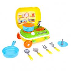 Чемодан 6078 Кухня з набором посуду, ТехноК