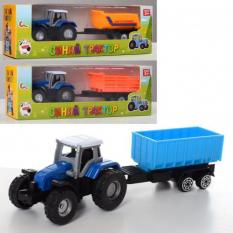 Трактор 0488-700Q метал, з причепом, в коробці