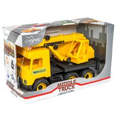 """Машина 39491 """"Middle truck"""", Тигрес, кран, жовтий"""