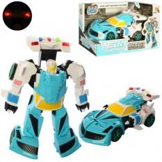 Трансформер D622-H046 (30шт) 20см, робот + машинка, звук, світло, на бат (табл), в кор-ке, 24-13-11,5см
