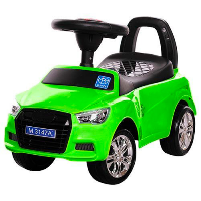 Каталка-толокар M 3147A (MP3) -5 (1шт/ящ) BAMBI, зелений