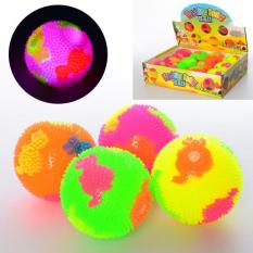 М'яч масажний MS 2392-10 (1уп / 12шт) пищалка, світло, в дисплеї