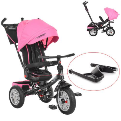 Велосипед M 3646A-15 (1шт/ящ) TURBOTRIKE, ніжно-рожевий