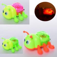 Заводна іграшка тисячі двісті дев'яносто дев'ять жук, 12 см, на батарейках, в кульку