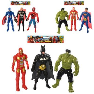 Фігурки для гри 899-31-32-33K AV, супергерой, на батарейках, в кульку