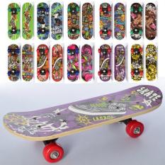 Скейт MS 0324-4 (10шт) 43-13см, пластмасова підвіска, колеса ПВХ, 7 шарів, 10 видів, в розібраному вигляді