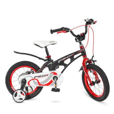 Велосипед дитячий PROF1 14д. LMG14201 (1шт/ящ) Infinity, чорно-червоний (матовий)