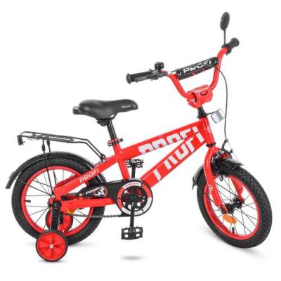 Велосипед дитячий PROF1 14д. T14171 (1шт/ящ) Flash, червоний